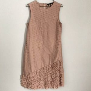 ALESSANDRO DELL' ACQUA Powder Ruffle Dress 42 4-6